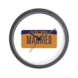 Gay Marriage New York Wall Clock