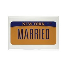 Gay Marriage New York Rectangle Magnet (100 pack)