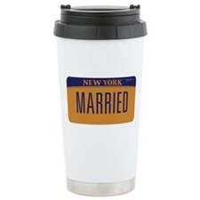 Gay Marriage New York Ceramic Travel Mug