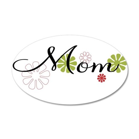 Mom Flowers 35x21 Oval Wall Decal