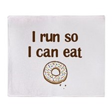 Run for Donuts Throw Blanket