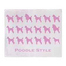 Poodle Style: Pink Throw Blanket