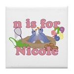 N is for Nicole Tile Coaster