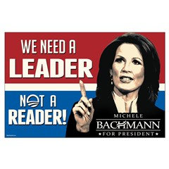 Bachmann - Leader not Reader Large Poster