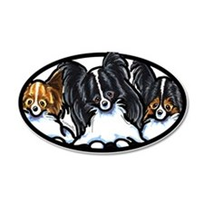 Papillon Lover 22x14 Oval Wall Peel