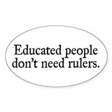 Educated People Decal