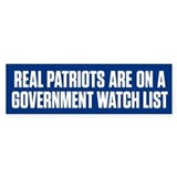 Real Patriots Bumper Sticker