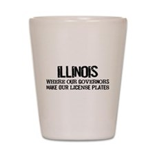 Illinois Governor Shot Glass