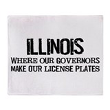 Illinois Governor Throw Blanket