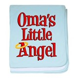 Oma's Little Angel baby blanket