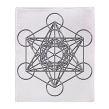 Metatrons Cube Throw Blanket