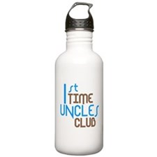 1st Time Uncles Club (Blue) Water Bottle