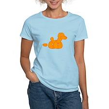 Orange Balloon Dog Poo T-Shirt