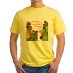 Wild Parrots Yellow T-Shirt