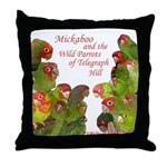 Wild Parrots Throw Pillow