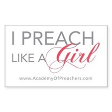 I Preach like a Girl (Sticker)