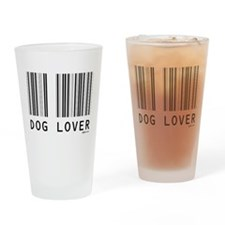 Dog Lover Barcode Pint Glass