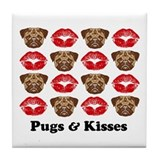 Pugs and Kisses Tile Coaster