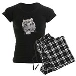 White Tiger Women's Dark Pajamas