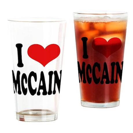 I Love McCain Pint Glass