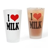 I Love Milk Pint Glass