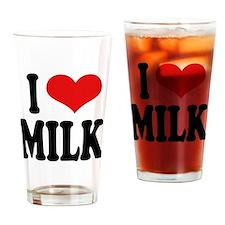 I Love Milk Pint Glass