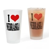 I Love Nebraska Pint Glass