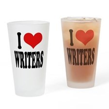 I Love Writers Pint Glass