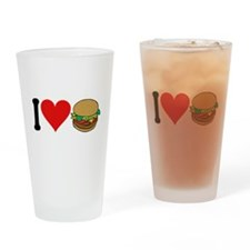 I Love Hamburgers (design) Pint Glass