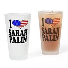 I Love Sarah Palin Pint Glass