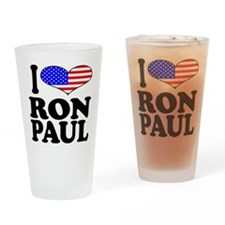 I Love Ron Paul Pint Glass