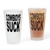 Cowboys Suck Pint Glass