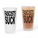 Fascists Suck Pint Glass