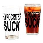 Hypocrites Suck Pint Glass