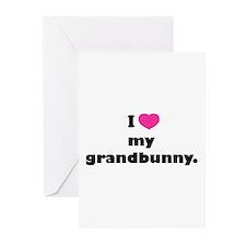 I love my grandbunny. Greeting Cards (Pk of 10)