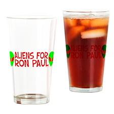 Aliens For Ron Paul Pint Glass