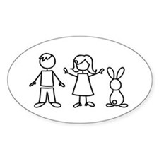 1 bunny family Decal