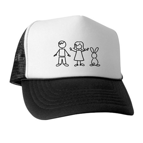 1 bunny family Trucker Hat