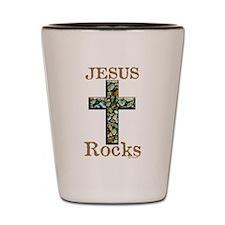 Jesus Rocks Shot Glass