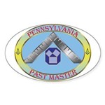 Pennsylvania Past Master Sticker (Oval)