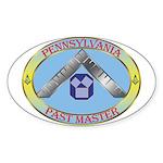 Pennsylvania Past Master Sticker (Oval)