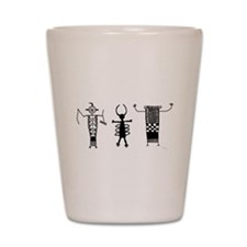 Petroglyph Peoples II Shot Glass