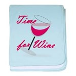 Time for Wine baby blanket