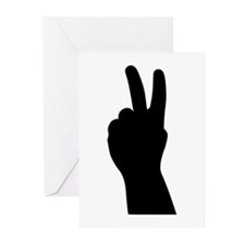 V Sign - Two Fingers Greeting Cards (Pk of 20)