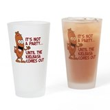 It's Not A Party Until Kielbasa Pint Glass