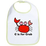 C is for Crab! Bib