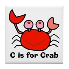 C is for Crab! Tile Coaster