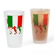Italy Soccer Pint Glass