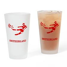 Swiss Soccer Player Pint Glass