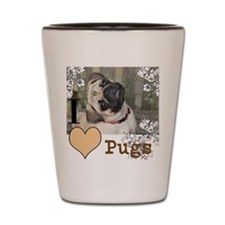 The Pony Cafe Pug Lover Pug Tilt Shot Glass